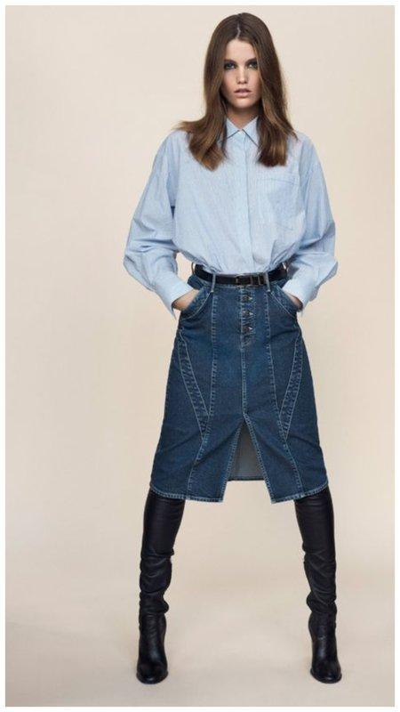 Джинсовая юбка на осень