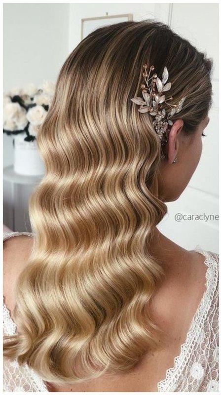 """Укладка """"Голливудские волны"""" на длинные волосы фото"""
