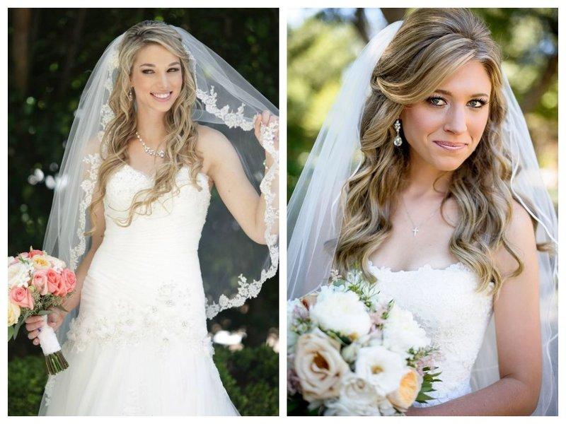 Невеста с челкой и фатой