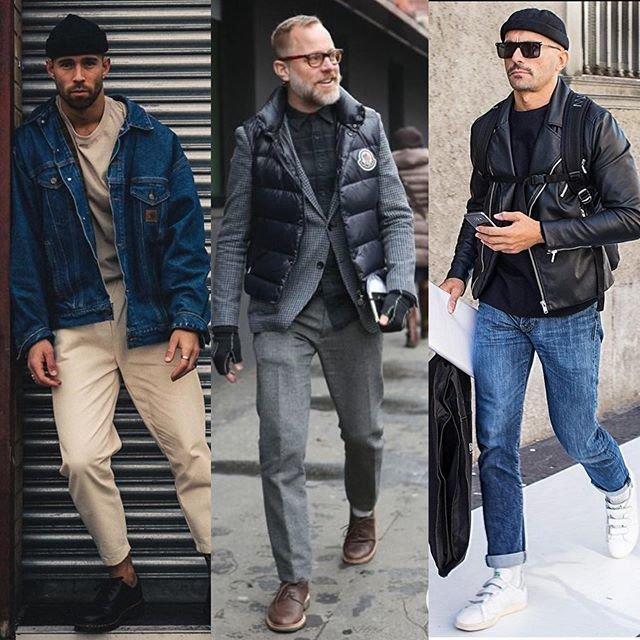 Стильные мужские образы на осень