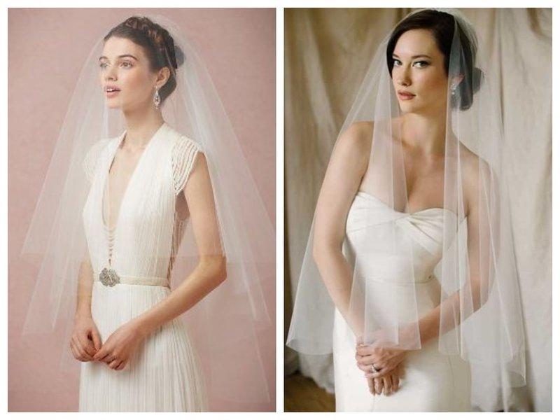 Невеста с короткой фатой