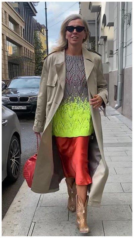 Светлана Бондарчук в модном тренче