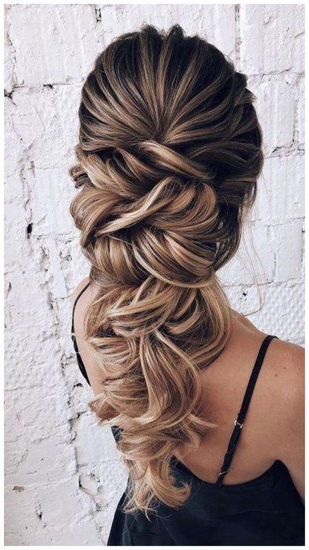 Объемная коса для длинных волос