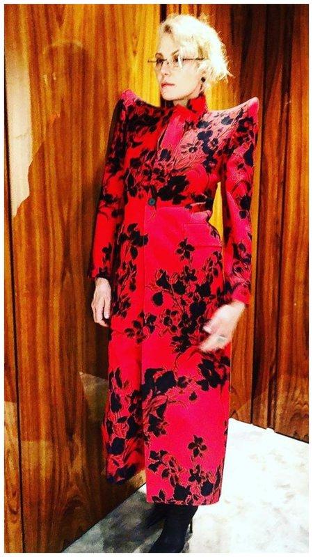 Рената Литвинова в красном платье