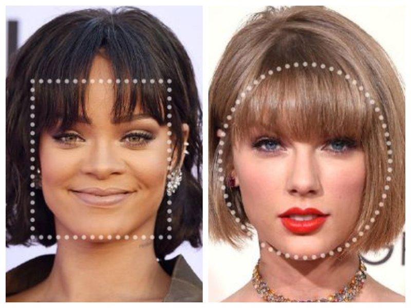 Как подобрать челку по форме лица фото