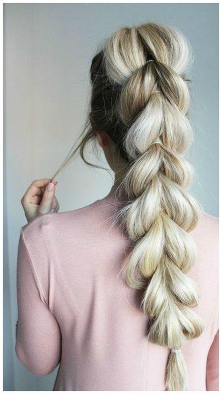 Идея для свадебной прически с косой
