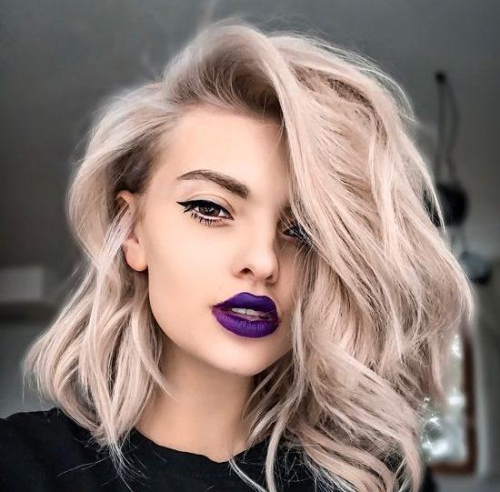 Укладка для волос средней длины фото