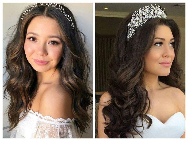Распущенные волосы и корона