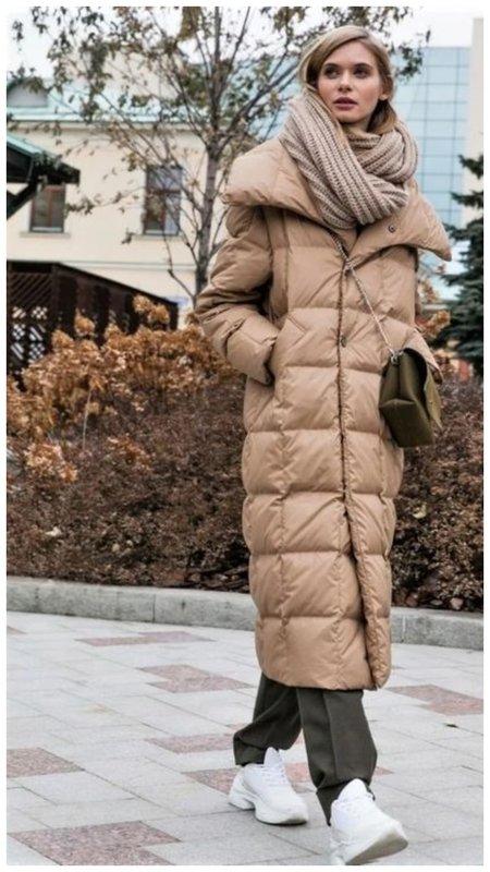 Модный пуховик для женщин зима 2021 фото