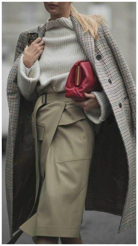 Юбка с накладными карманами фото