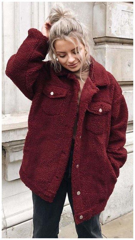 Укороченное пальто-чебурашка