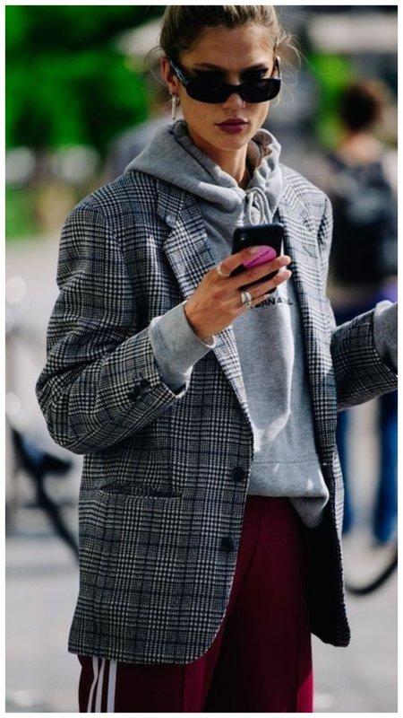Фото с чем носить пиджак в клетку