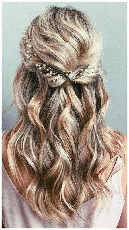 Как красиво собрать длинные волосы на свадьбу