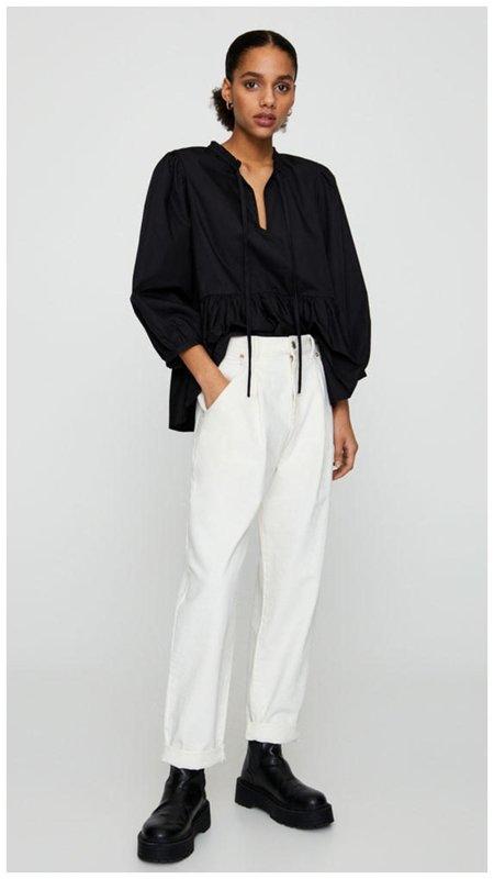 Модные белые брюки