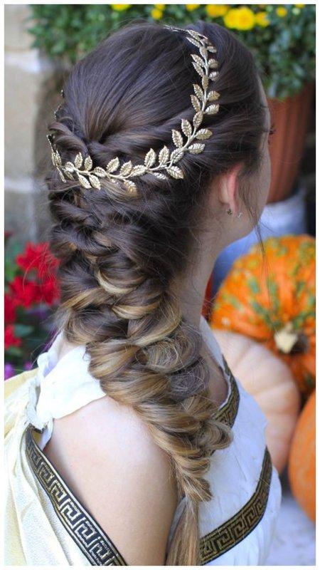 Свадебная коса в греческом стиле