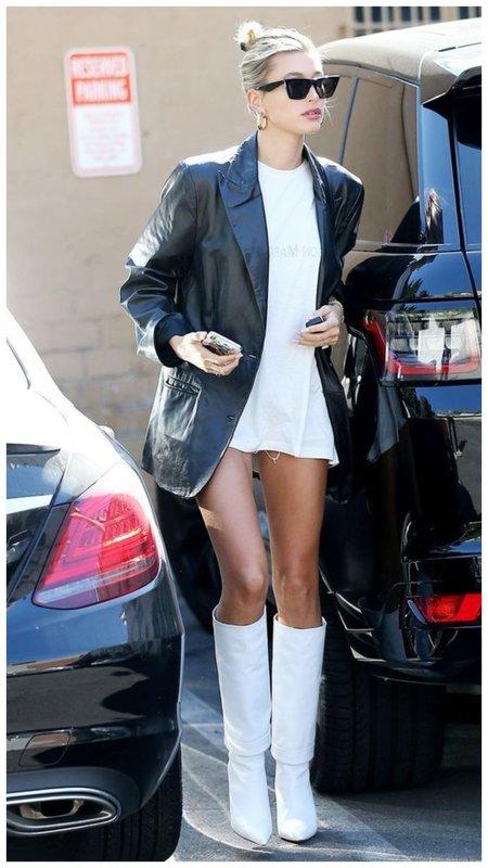 Модный кожаный пиджак фото