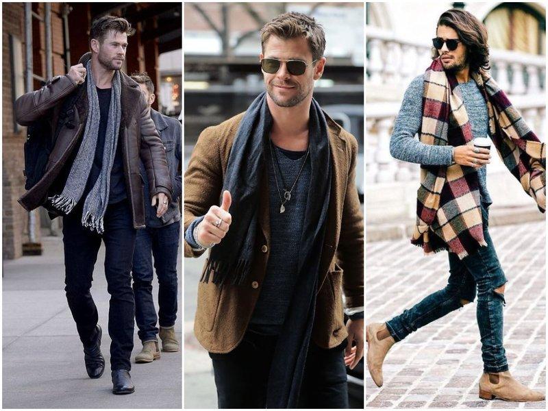 Фото модный мужской шарф