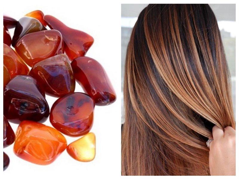 Цвет волос сердолик