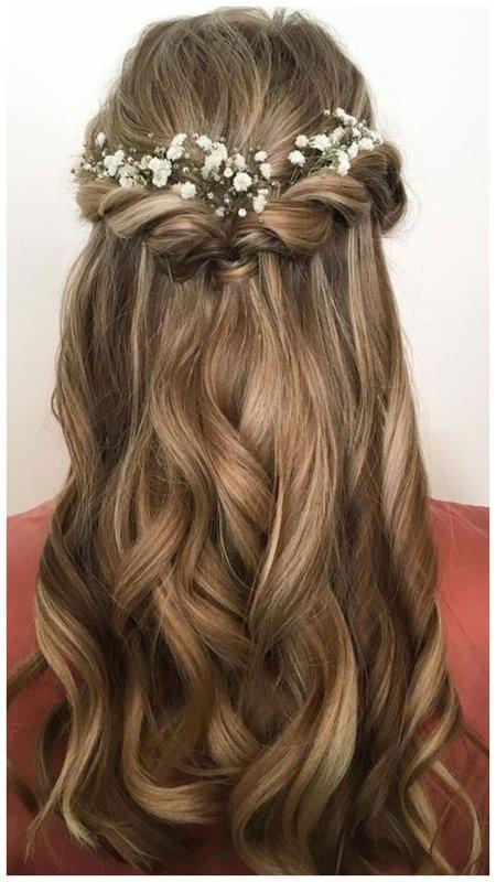 Красивая прическа для невесты с длинными волосами