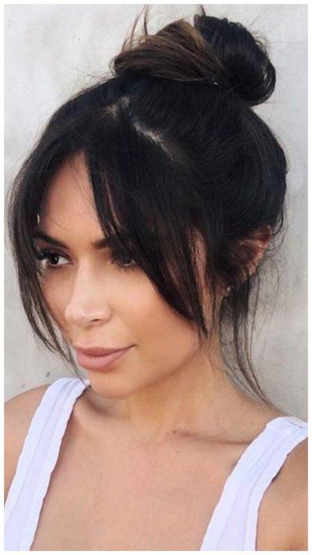 Ким Кардашьян челка фото