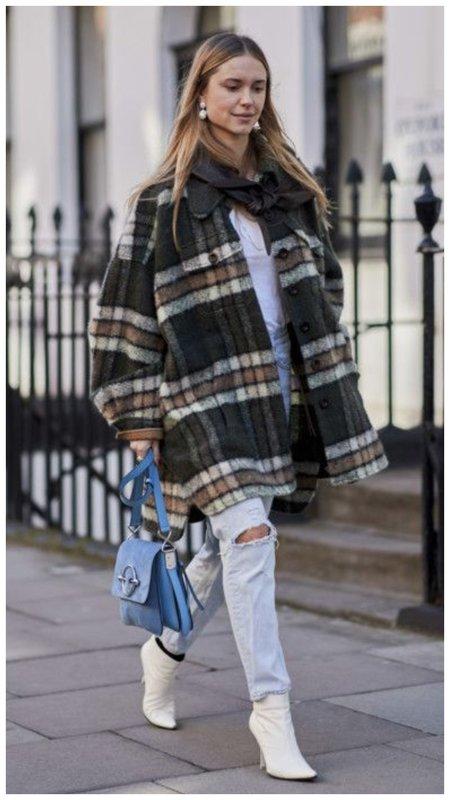 Фото стильного образа с курткой-рубашкой
