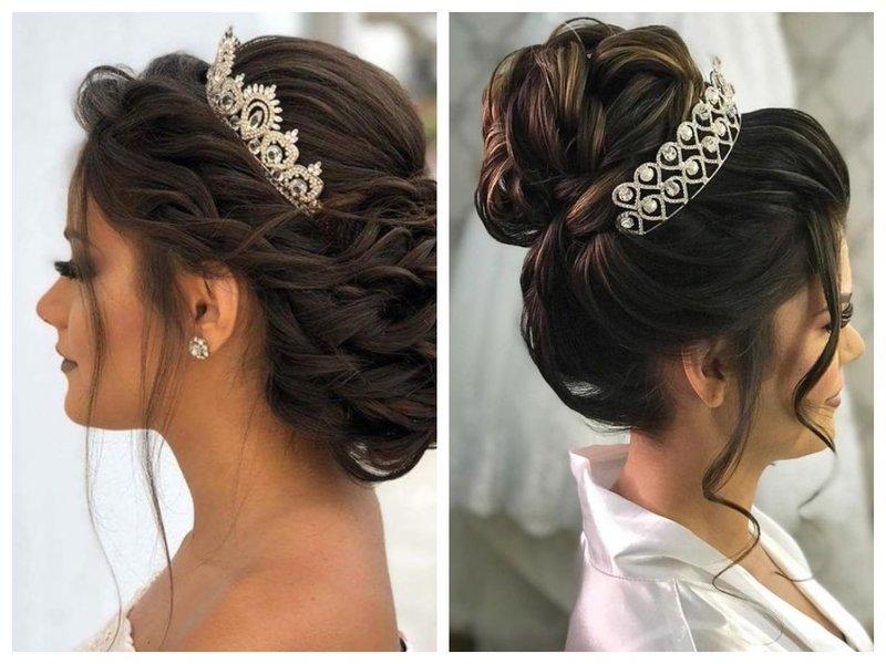 Невеста с пучком и короной