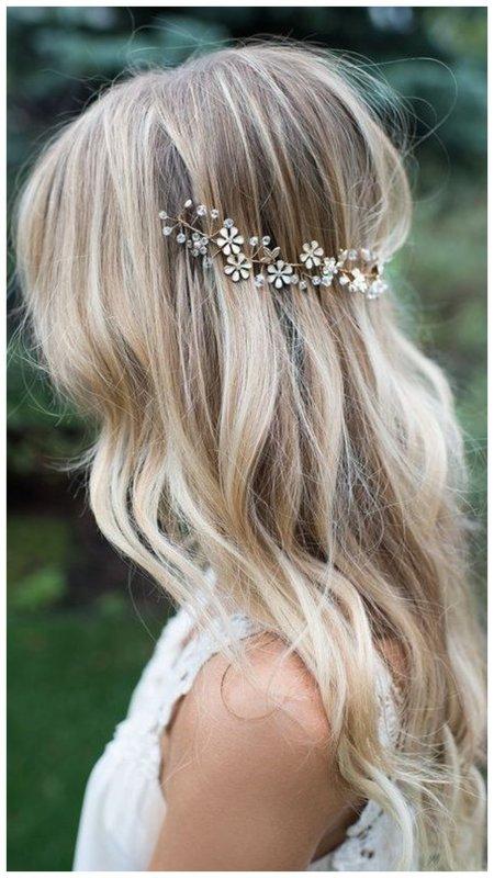 Невеста с распущенными волосами фото