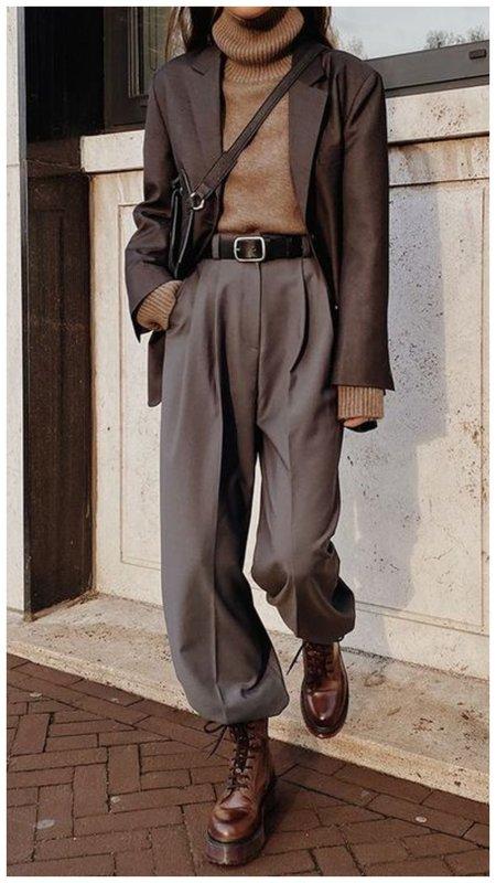 Свободные брюки в мужском стиле для женщин