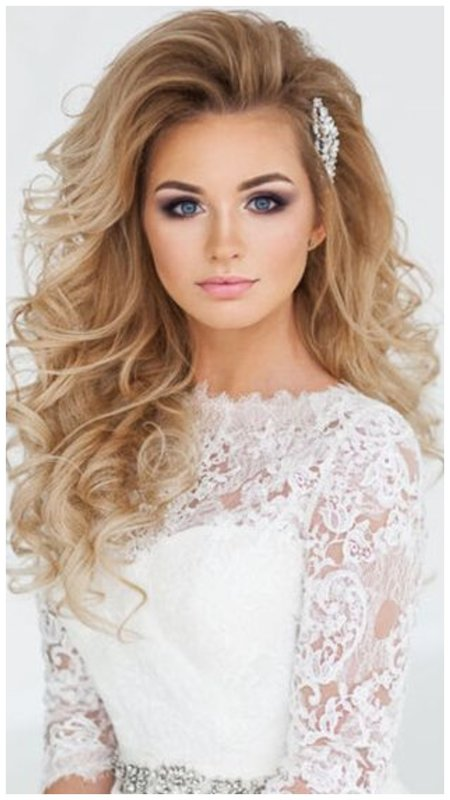 Свадебная укладка для длинных волос