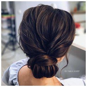 Узелок на свадьбу для средних волос