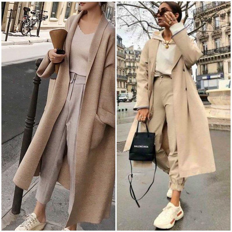 Пальто и укороченные брюки