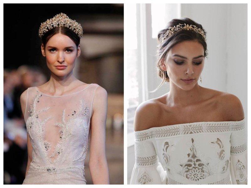 Невесты с короной на голове