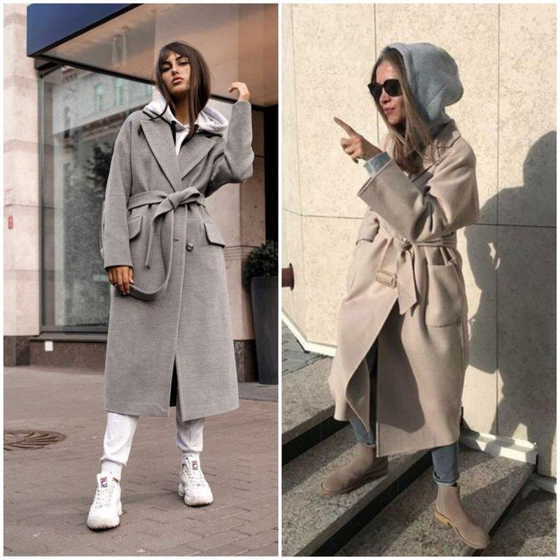 Как носить пальто и худи фото