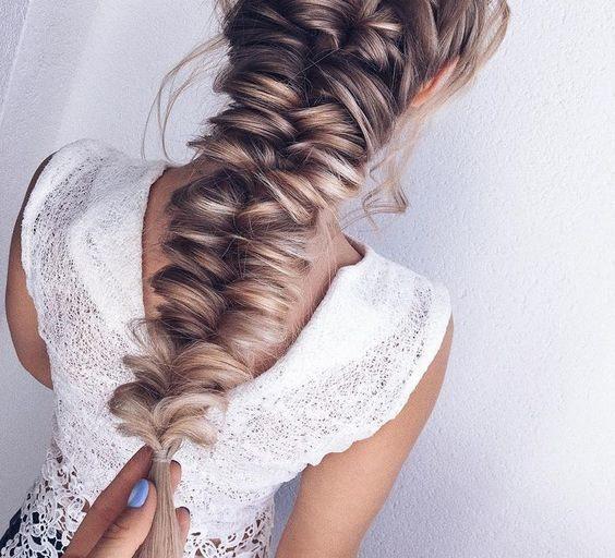 Красивая свадебная коса