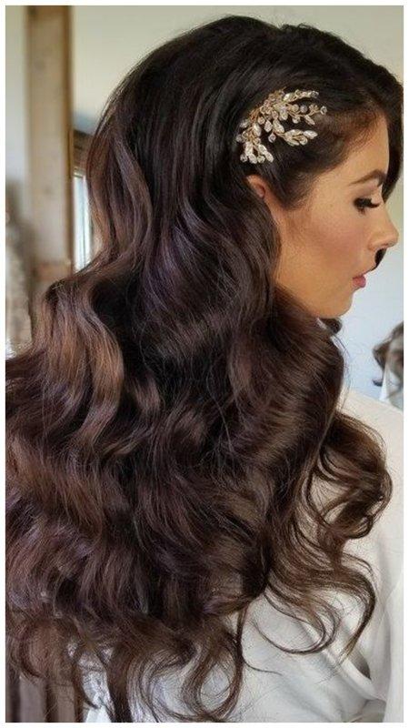 Невеста с длинными волосами прическа фото