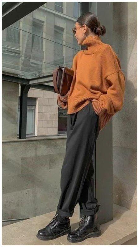 Стильный женский образ на осень фото