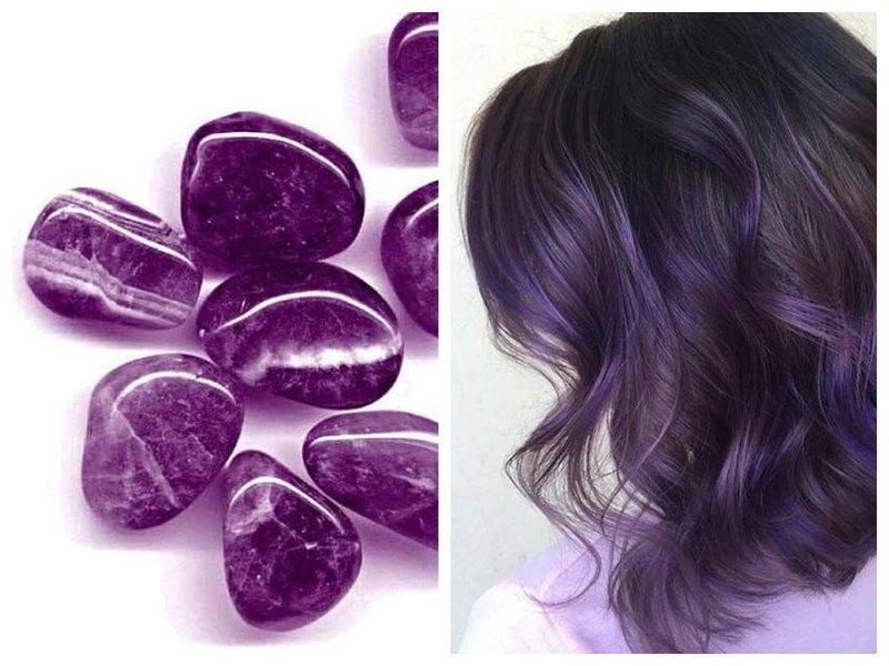 Цвет волос аметист