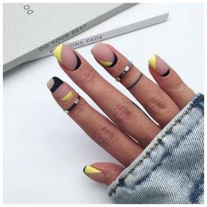 Красивые рисунки на ногтях в стиле геометрия