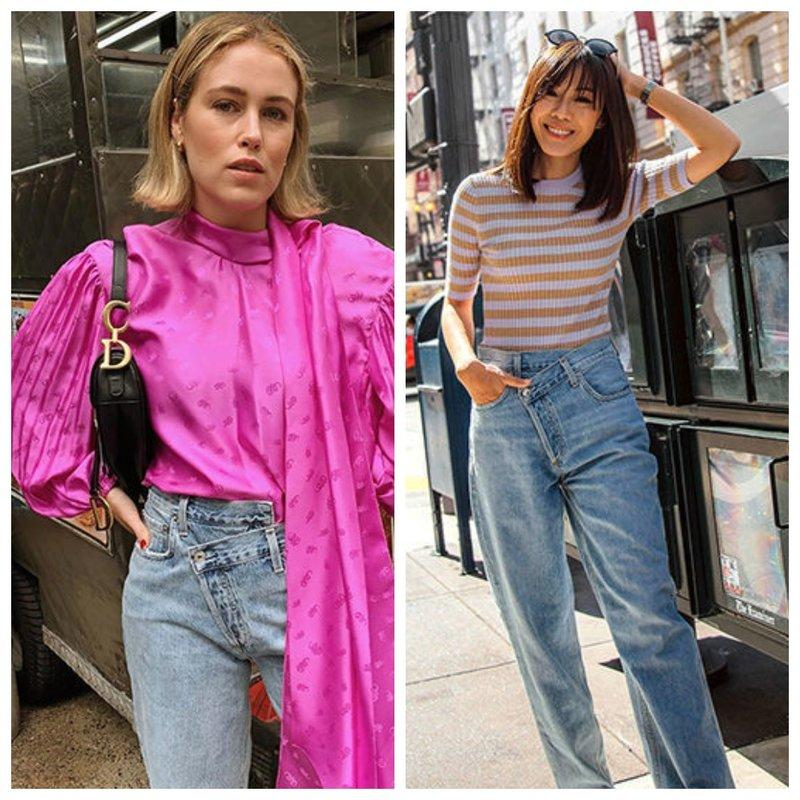 Асимметричные джинсы - мода