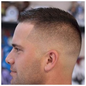 Короткая мужская стрижка с челкой