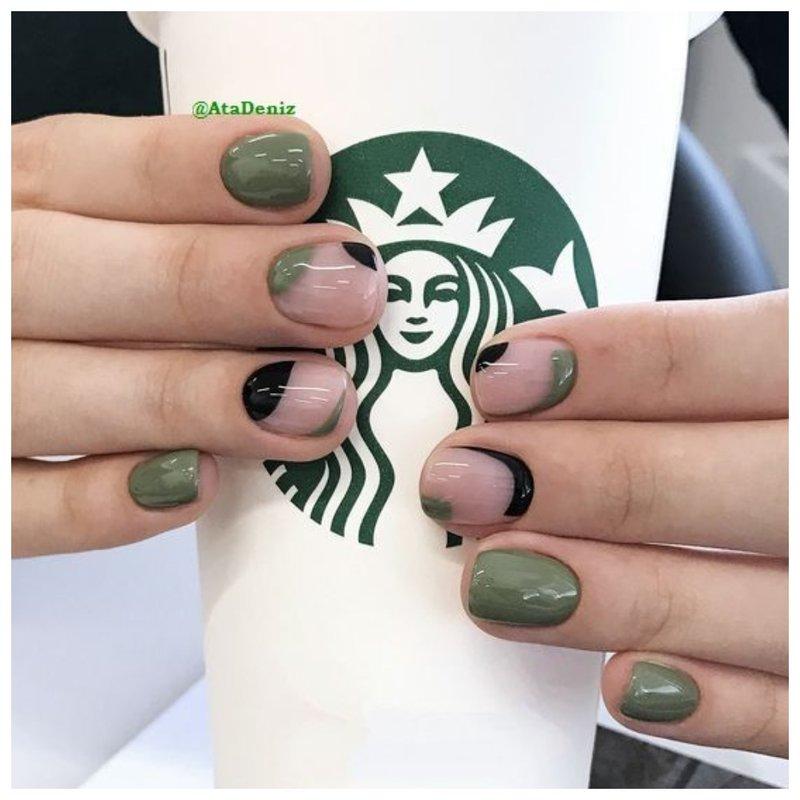 Идея для дизайна для коротких ногтей