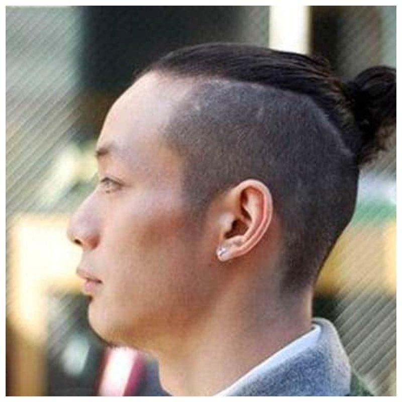 Мужской пучок из волос