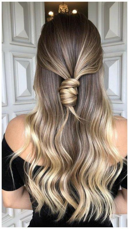 Частое мелирование на длинные волосы