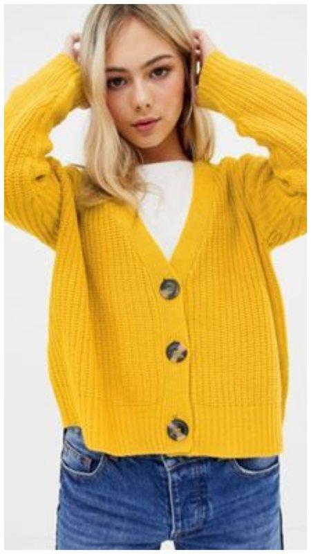 Стильная желтая кофта