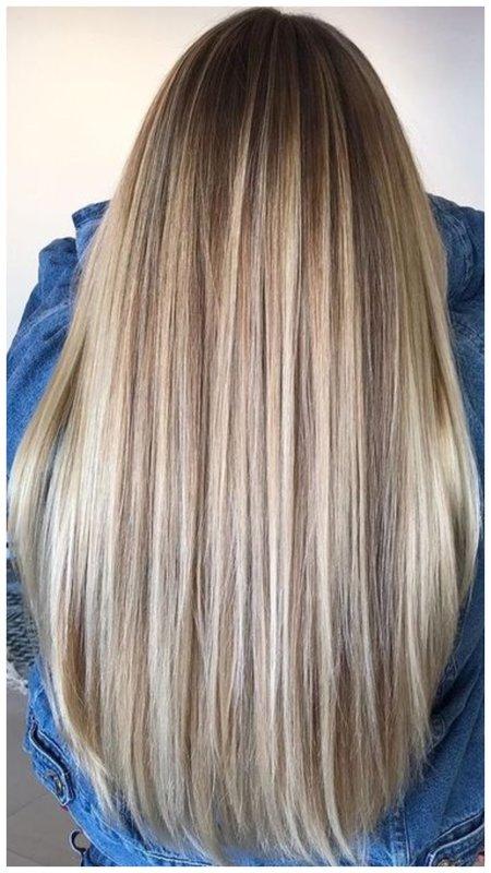 Мелирование на длинные русые волосы