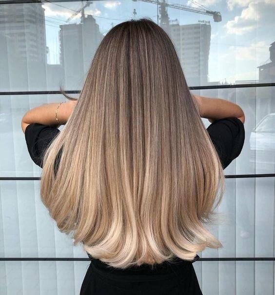Мелкое мелирование на длинные русые волосы фото