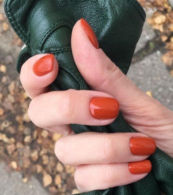 Ногти цвета тыквы