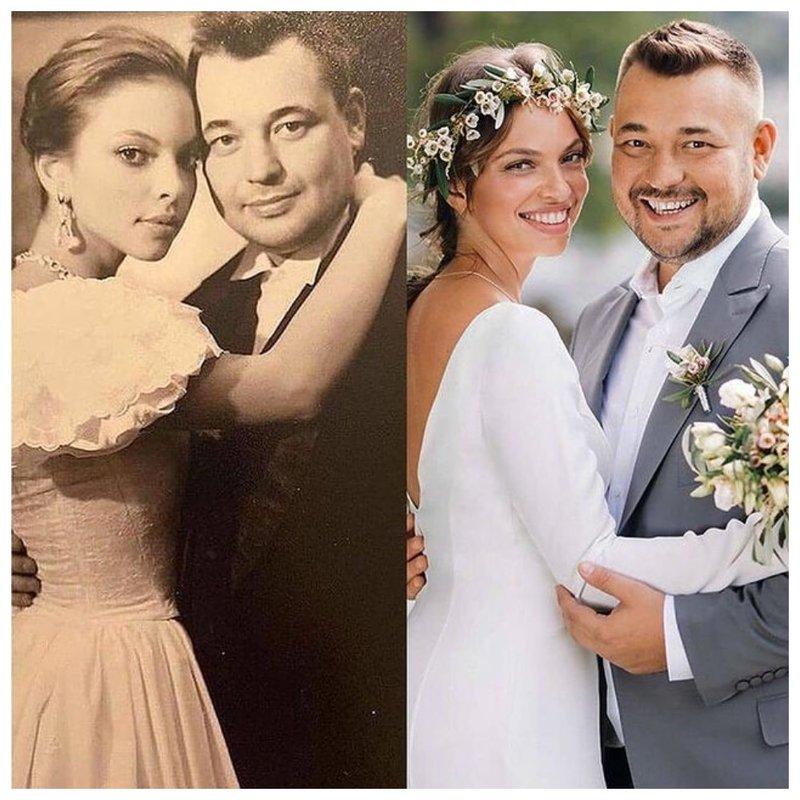 Сергей Жуков с женой: свадебное фото