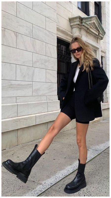 С чем носить модные ботинки
