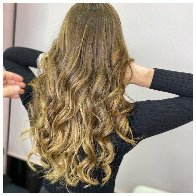 Сложное окрашивание натуральных волос